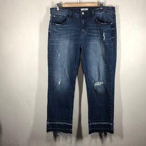 Kensie distressed jeans size 12